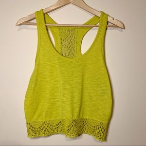 🌟 Roxy Crochet Detailed Racerback Crop Top